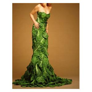 Ekokläder i form av en ekologisk klänning